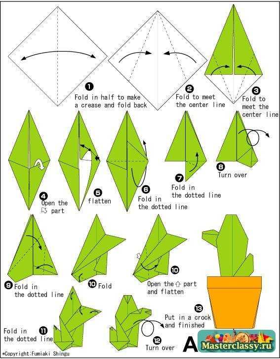 оригами картинки из бумаги схемы
