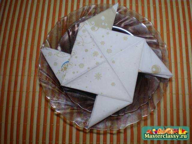 Салфетка-оригами Вертушка. Мастер класс