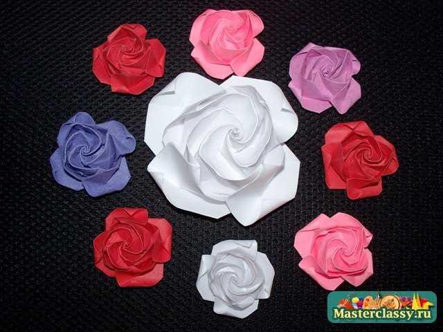 Бутон розы оригами