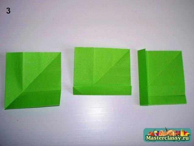 Оригами лист с черешком