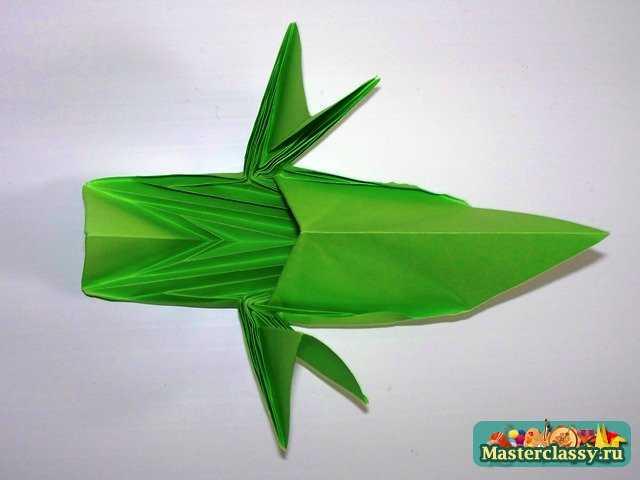 Сборка листа оригами