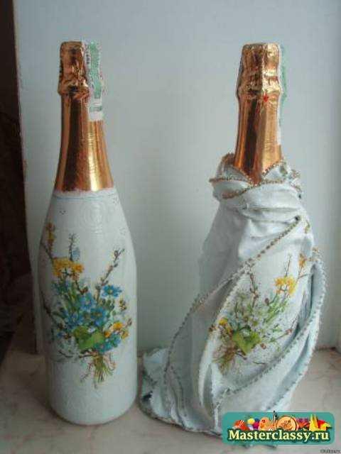 бутылка шампанского декупаж 2