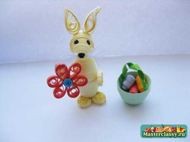 Пасхальный кролик в технике квиллинг. Мастер класс