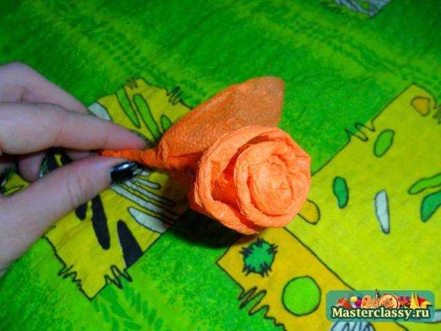 Роза из салфетки. Мастер класс