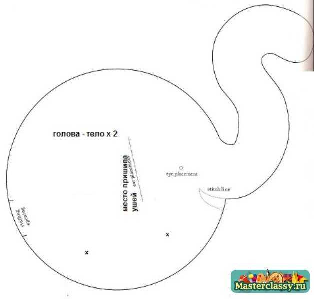 выкройка слон 1