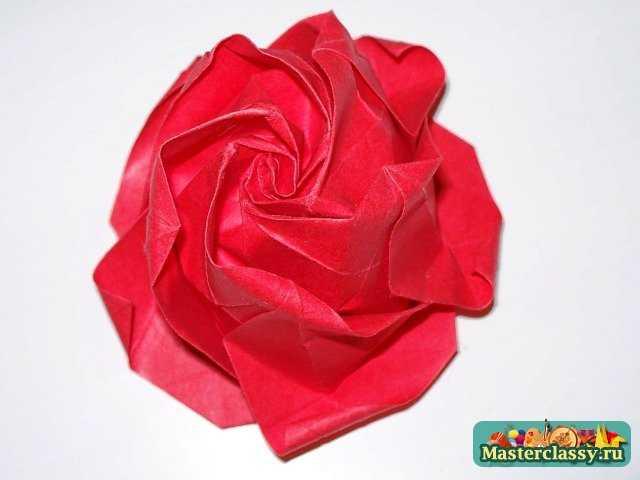 Пятиугольник оригами. Роза с пятью лепестками