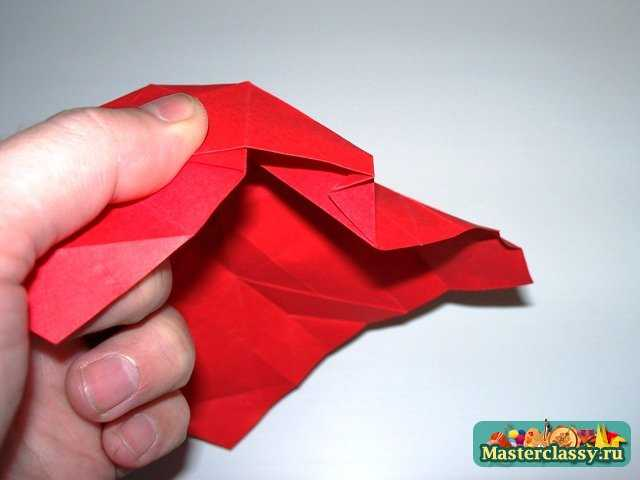 Сборка оригами розы пять лепестков