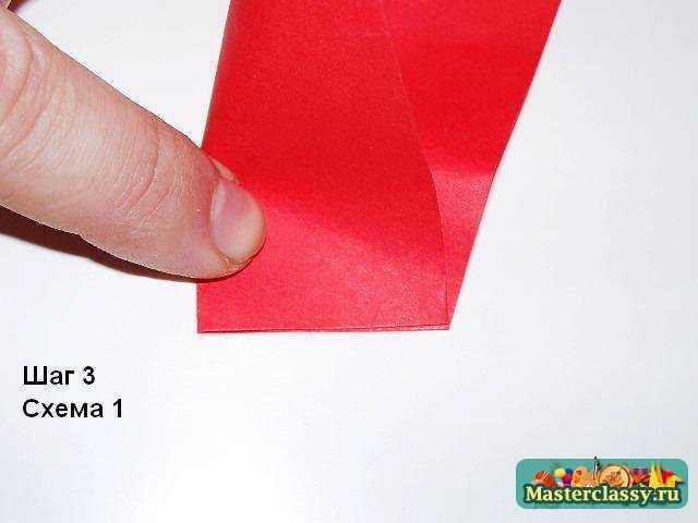 Получение линий для оригами розы пять лепестков