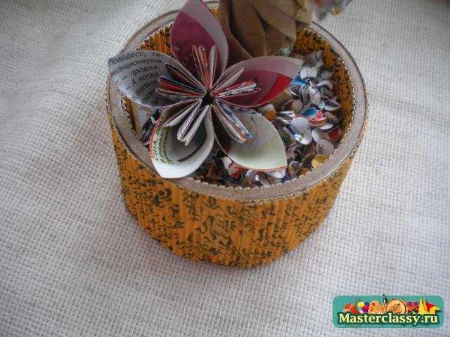 Бумажное дерево Цветы кусудами. Мастер класс