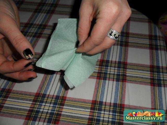 Как сделать розу из салфетки? Мастер класс