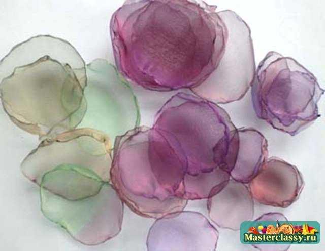 Как сшить из ткани цветок для