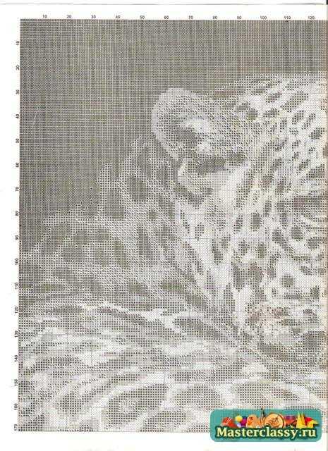 Вышивка картин. Леопард. Мастер класс