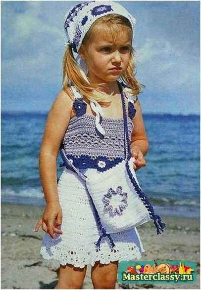 Вязание крючком. Летний комплект для девочки