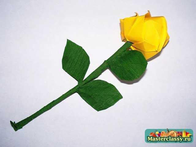 Видео оригами как сделать розу