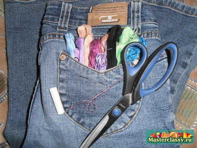 материалы для вышивки джинс