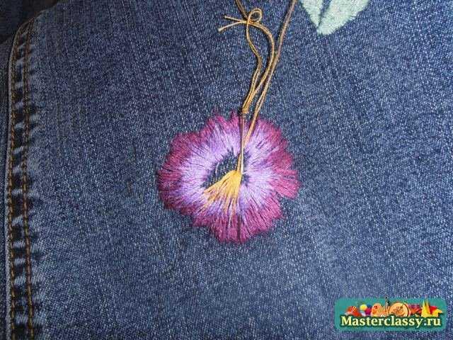 Рисунки для вышивки гладью на джинсах