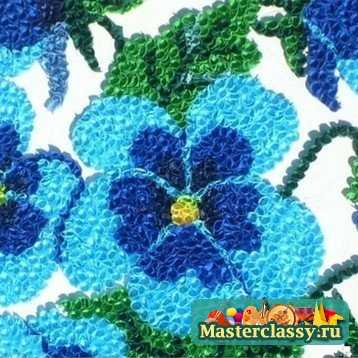 Красивые цветы из гофрированной бумаги