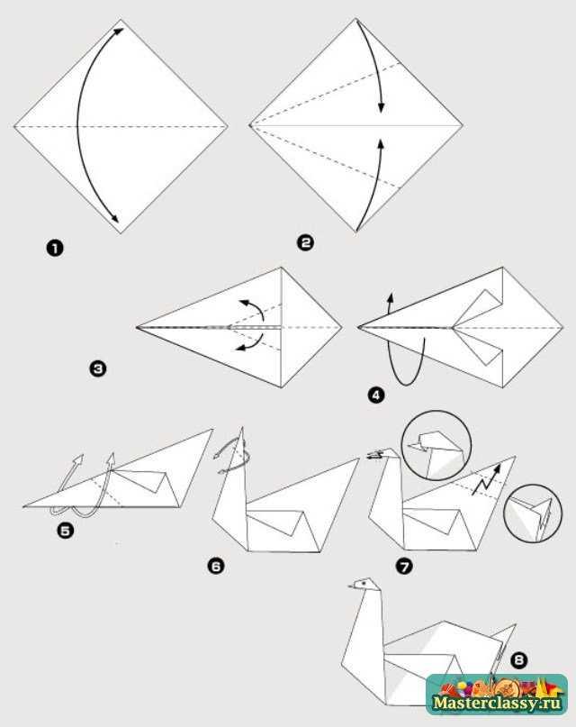 Как сделать поделки из бумаги лебеди