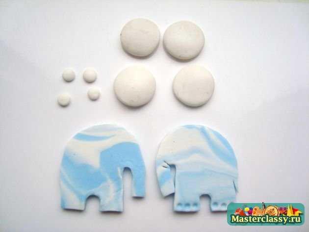 Серьги Небесные слоны