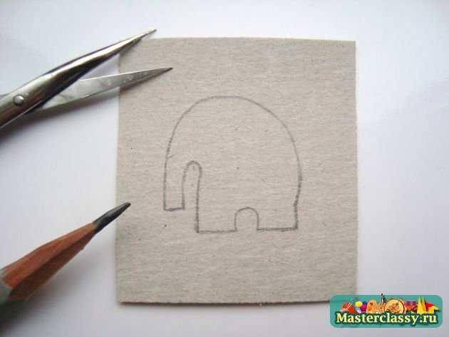 Серьги из пластики Небесные слоны авторские