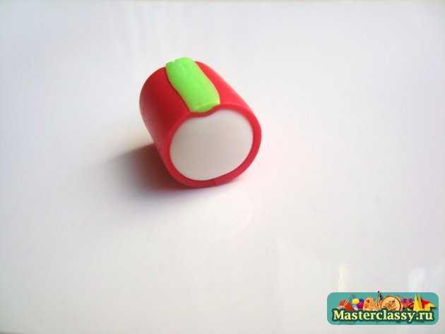 Серьги Яблочки из полимерной глины Мастер-класс ручной работы