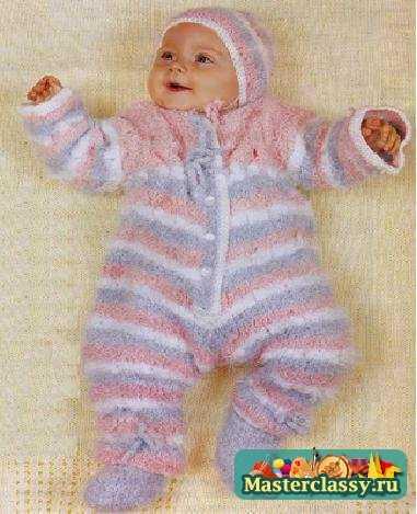 вязание спицами комплект для малыша от 3 до 6 мес