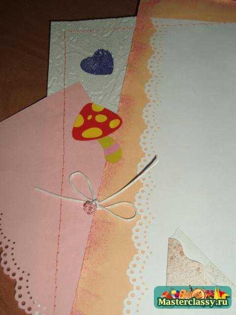 скрапбукинг. Фотоальбом для новорожденной девочки своими руками. Мастер класс