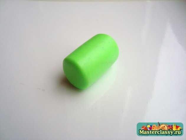 киви серьги из пластики