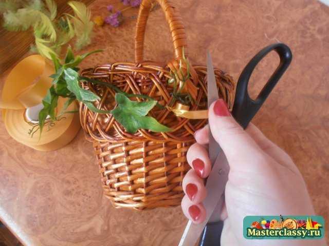Оформление пасхальных корзин своими руками мастер класс