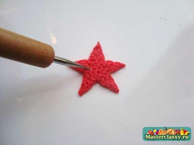 серьги Морские звёзды из полимерной глины