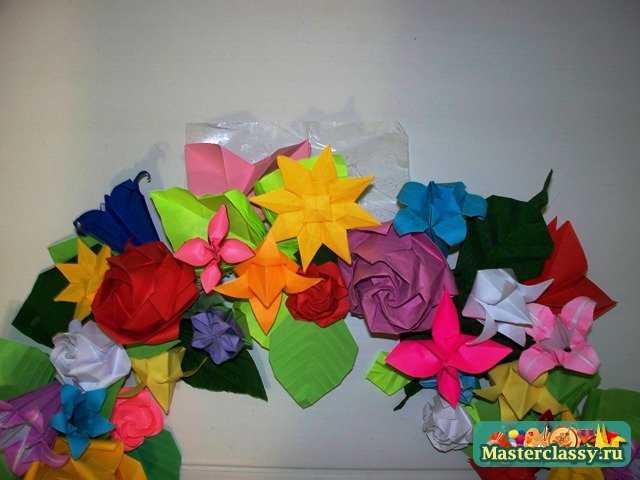 Сборка венка оригами