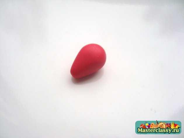 серьги клубнички ручной работы из пластики