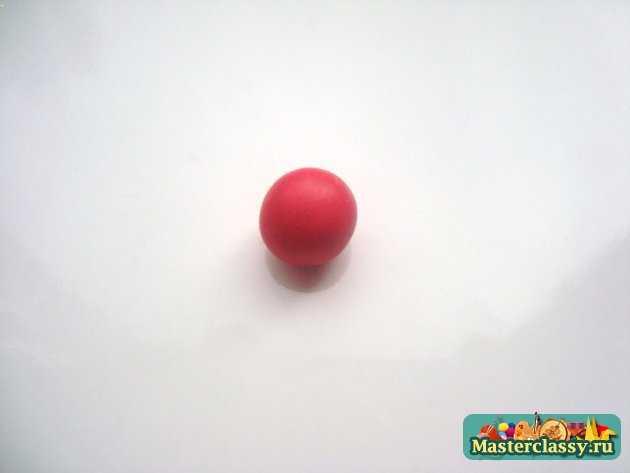 серьги клубнички ручной работы из полимерной глины