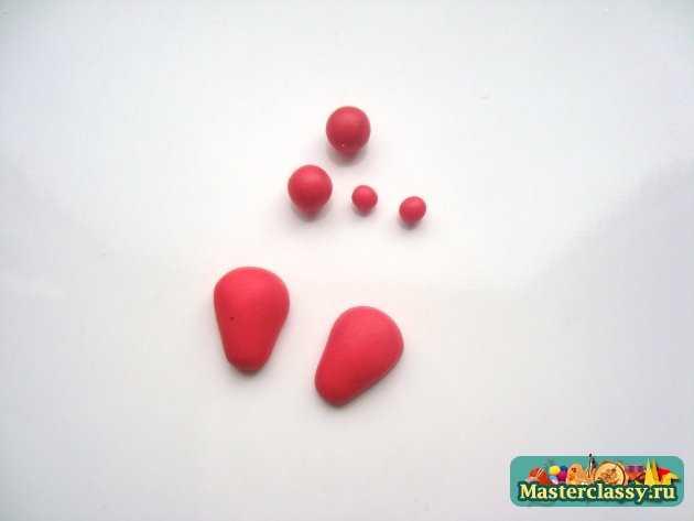 серьги клубнички ручной работы полимерная глина