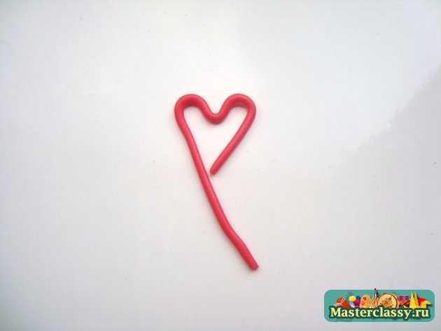 Серёжки из пластики Золотые сердца
