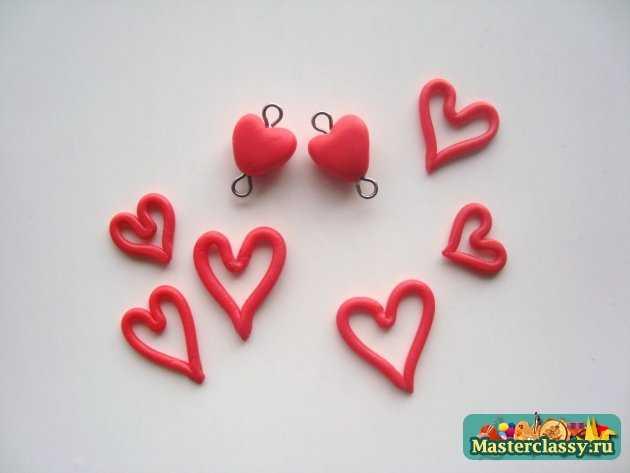 серёжки сердца