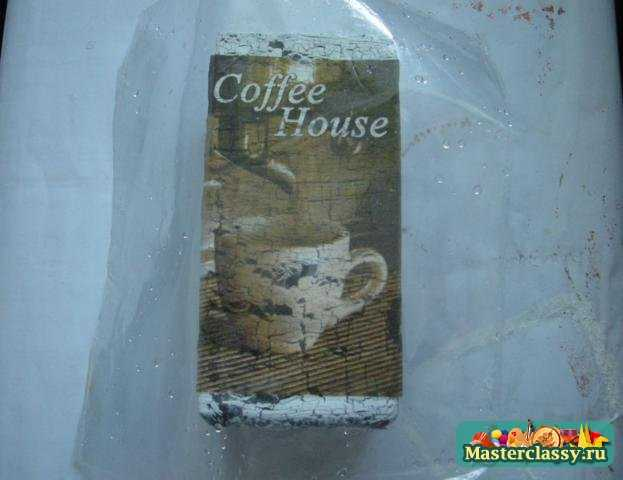 Баночка для кофе с одношаговым кракелюром. Мастер класс