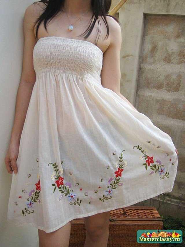 Одежда с элементами вышивки