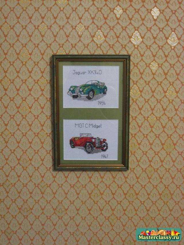 Вышивка. Мастер класс и схема автомобилей ретро