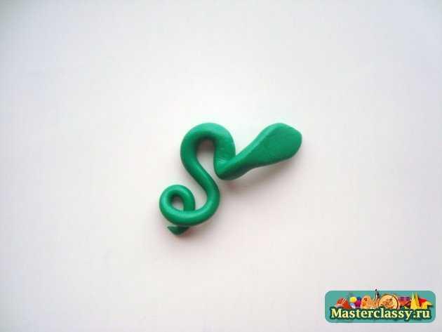 серьги змея 2013 из полимерной глины ручной работы