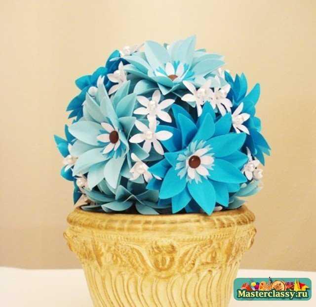 Цветы из бумаги дерево цветов