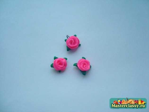 розы полимерная глина ручная работа