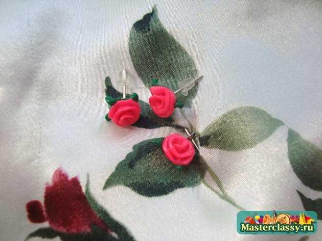 розы из пластики