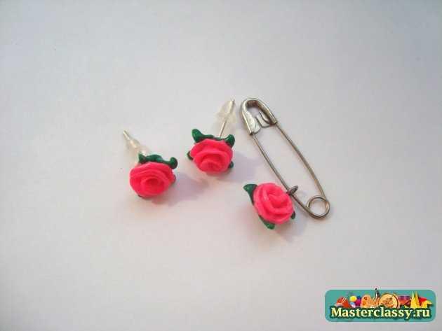 розы полимерная глина ручной работы