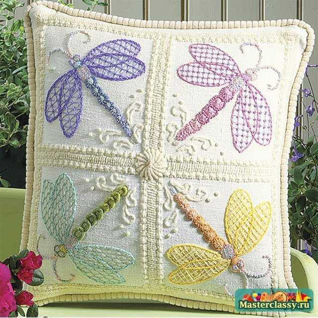 Подушка вышивка крючком