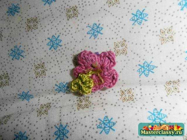 Комплект вязаных украшений, крючком «Цветочная поляна». Мастер класс с пошаговым фото