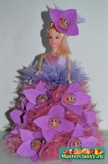 Кукла и конфеты своими руками 493