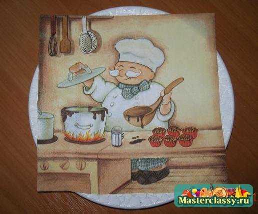 Декупаж яичной скорлупой. Тарелочка от шеф повара. Мастер класс с пошаговыми фото