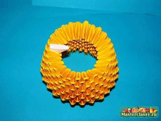 Цыпленок тельце модульное оригами