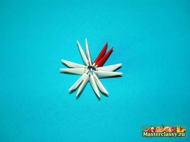 Цыпленок верхняя скорлупа модульное оригами